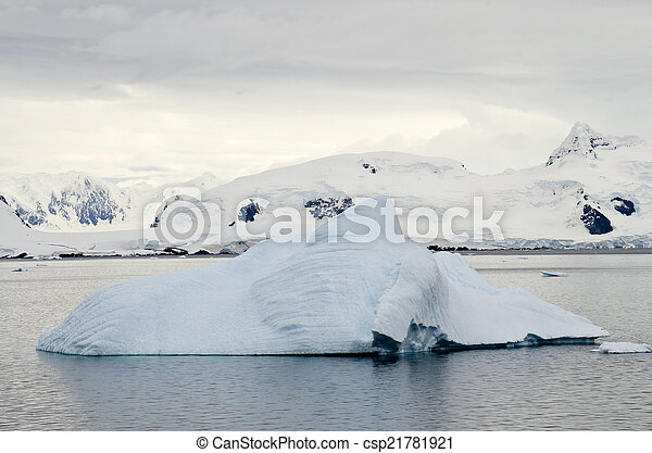 Antarctica - Iceberg And Landscape