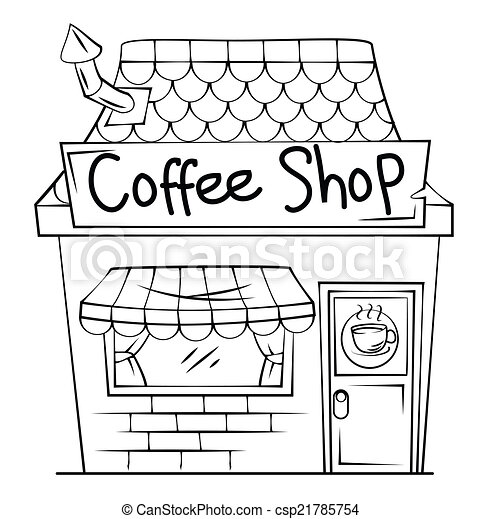 Clipart Vector Of Coffee Shop Csp21785754 Search Clip