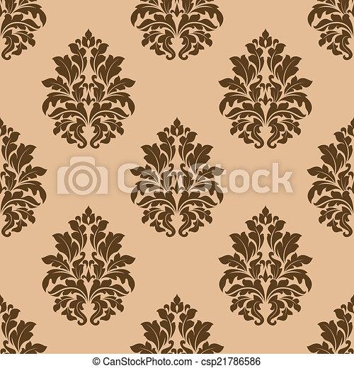 Retro dark beige or brown seamless pattern - csp21786586