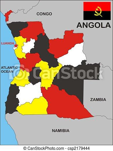 Angola, mapa - csp2179444