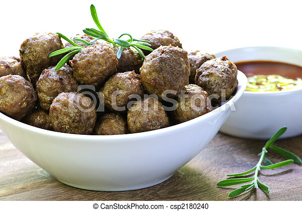 Meatballs and sauce - csp2180240