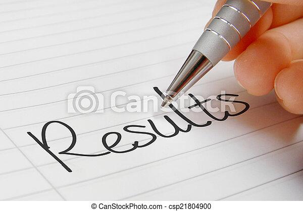 Results word handwriting - csp21804900