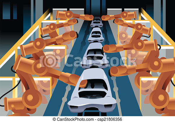 Automobile assembly line - csp21806356