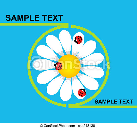 Logo daisy with ladybirds - csp2181301