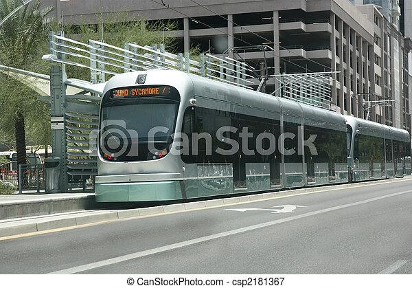Metro Rail Station, Phoenix, AZ - csp2181367