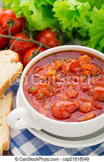 蔬菜, 湯, 碗 - csp21818049