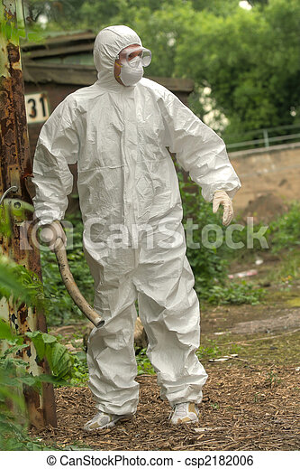 Chemical Worker with rod - csp2182006