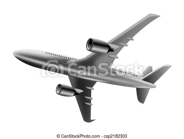 Jet plane in full flight - csp2182303