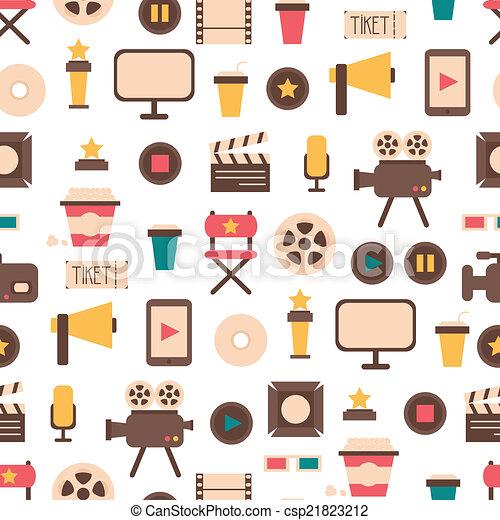 Vektor clip art von seamless muster wohnung bunte film for Meine wohnung click design download