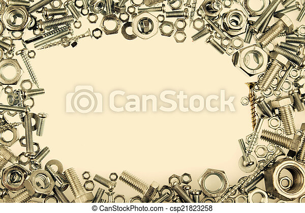 Chrome nuts and bolts frame