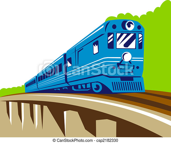 Indian passenger train clipart