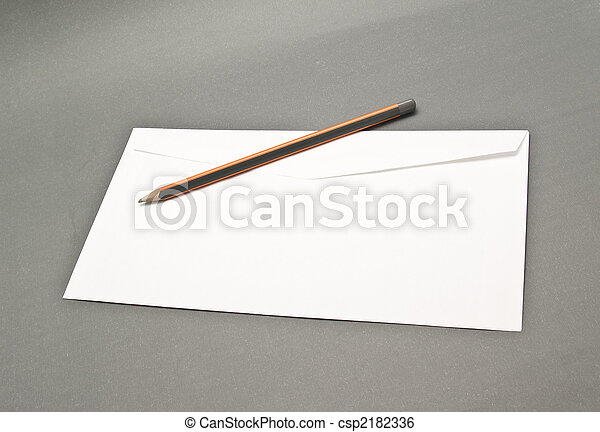mail envelope and pencil