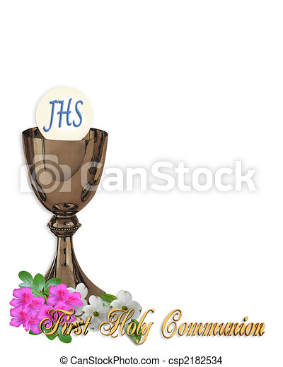 Holy Communion Invitation Background - csp2182534
