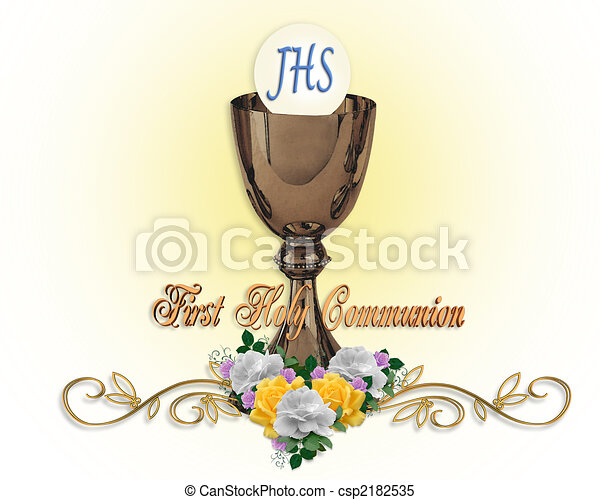 Holy Communion Invitation Background - csp2182535