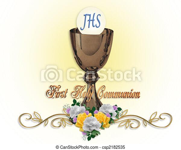 Holy Communion Invitation Background - csp2182535