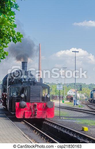 Departure of a Steam Train