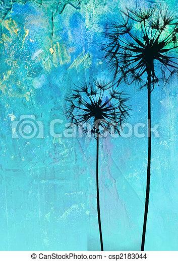 dandelion flower illustration - csp2183044
