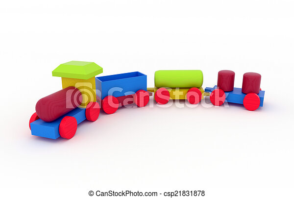 Stock Illustrations of Wooden Toy Train - childrens toy - wooden Toy ...