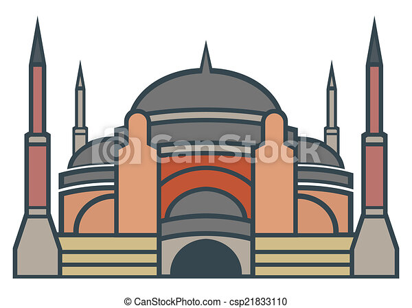 vector clip art of hagia sophia  istanbul simple icon mosque clipart design vector image free clipart mosquée