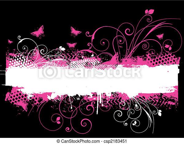 Flowers and butterflies - csp2183451