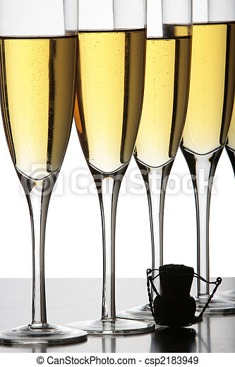 Champagne Glasses and Cork