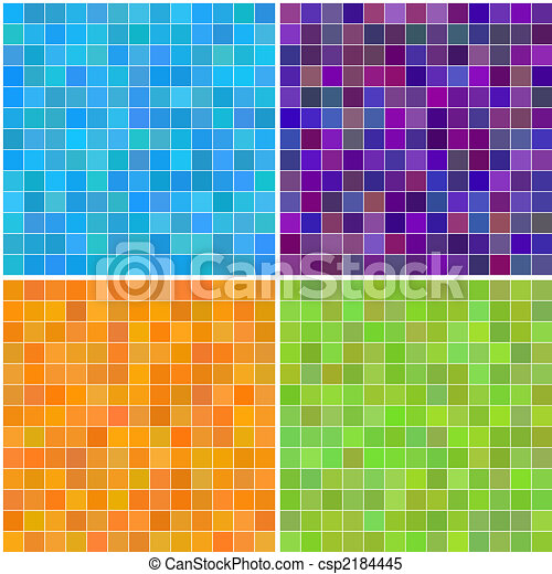 Colorful multi color seamless square tiles - csp2184445
