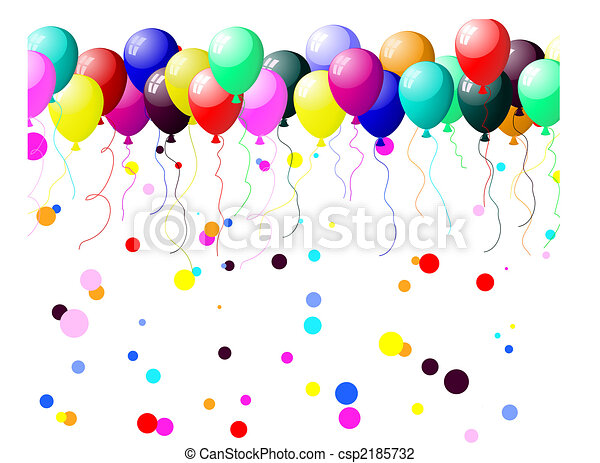 colourful balloons with glare - csp2185732
