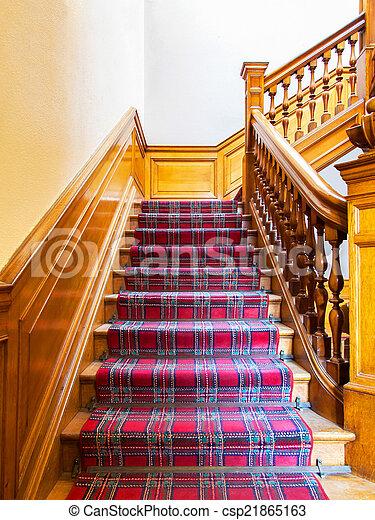 Stock de imagenes de escaleras alfombra tira viejo de - Alfombra para escalera ...