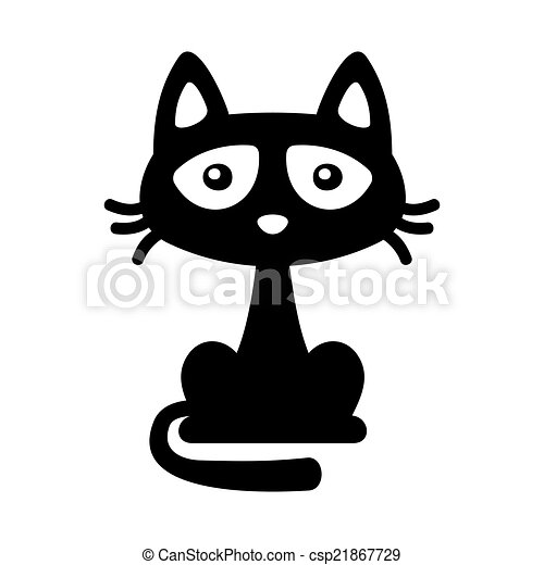 Illustration vecteur de peu illustration halloween style chat vecteur noir csp21867729 - Chat noir dessin ...