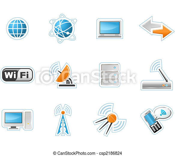 Wireless Technology icons - csp2186824