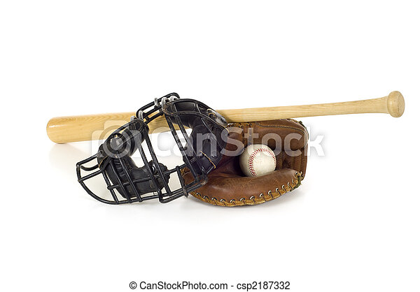 Baseball Catcher\'s Gear - csp2187332