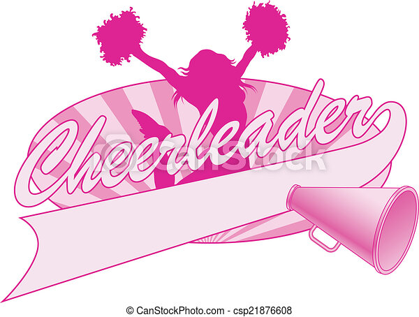 ... cheerleader, megaphone and a banner for your name, school name or