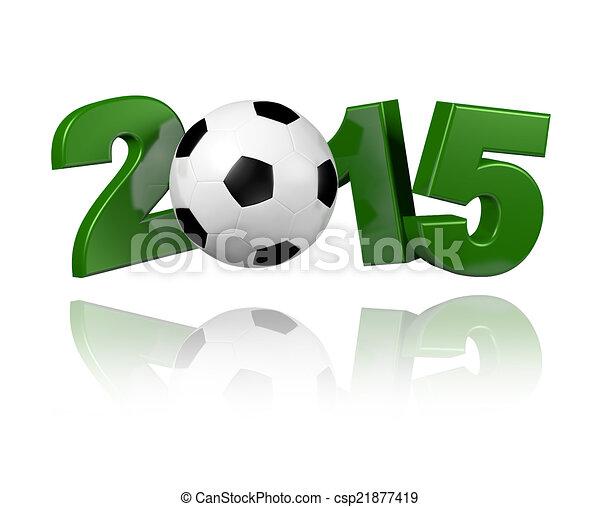 Football 2015 design - csp21877419