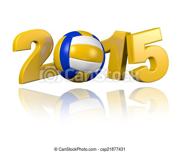 Beach Volleyball 2015 design - csp21877431