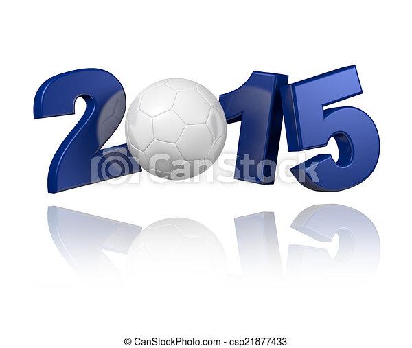 Handball 2015 design - csp21877433
