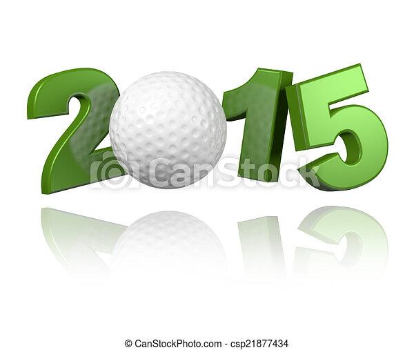 Golf 2015 design - csp21877434