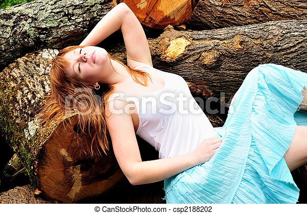 Stock Photo - young nymphet - stock image, images, royalty free photo