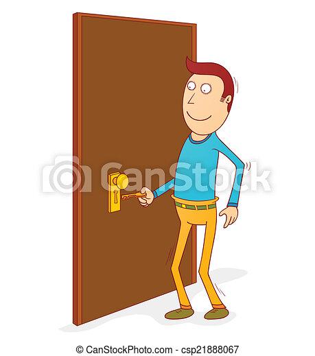 Clip art vecteur de porte ouvrir ouvrir porte - Creer une porte ...