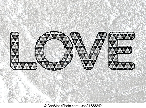 zeichnung von liebe schriftart art valentines tag. Black Bedroom Furniture Sets. Home Design Ideas