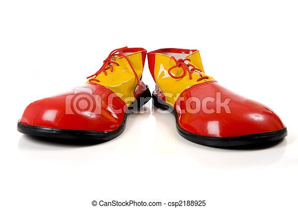Clown Shoes on White - csp2188925