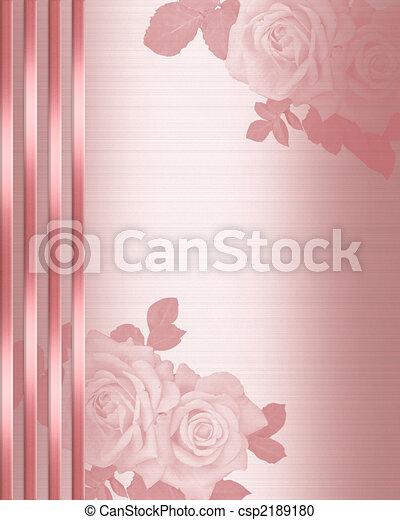 Pink Satin Wedding Invitation border - csp2189180