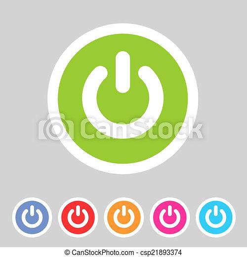 Vektoren illustration von wohnung schalter abzeichen for Meine wohnung click design download