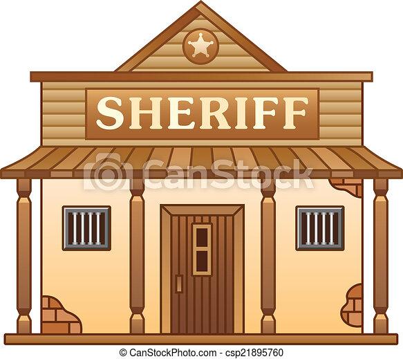 Clip art vector van wild west gebouw kantoor sheriff 39 s - Dessin saloon ...