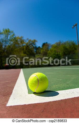 Tennis balls on Court - csp2189833