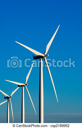 Modern wind turbines or mills providing energy - csp2189952