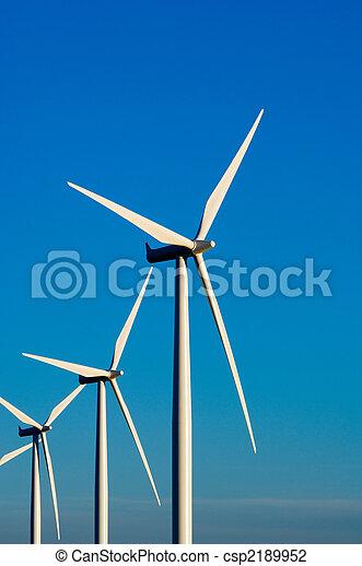 Modern wind turbines or mills providing energy - csp2189952