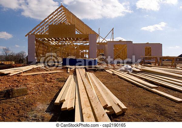 casa, novo, construção, sob - csp2190165