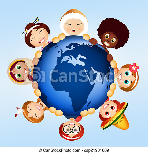 Stock Illustration  people of different races  stock illustration