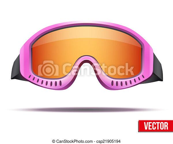 Ski Goggles Vector Snowboard Ski Goggles With