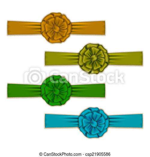 Set of elegant silk colored bows - csp21905586
